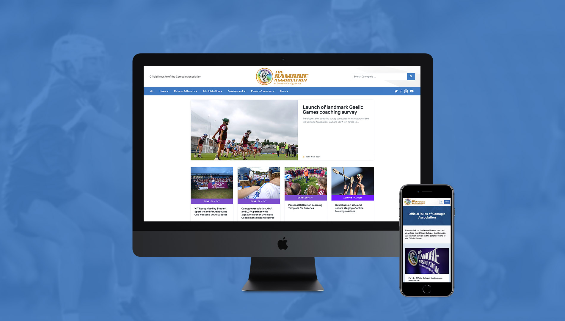 Camogie Association Web Design and WordPress