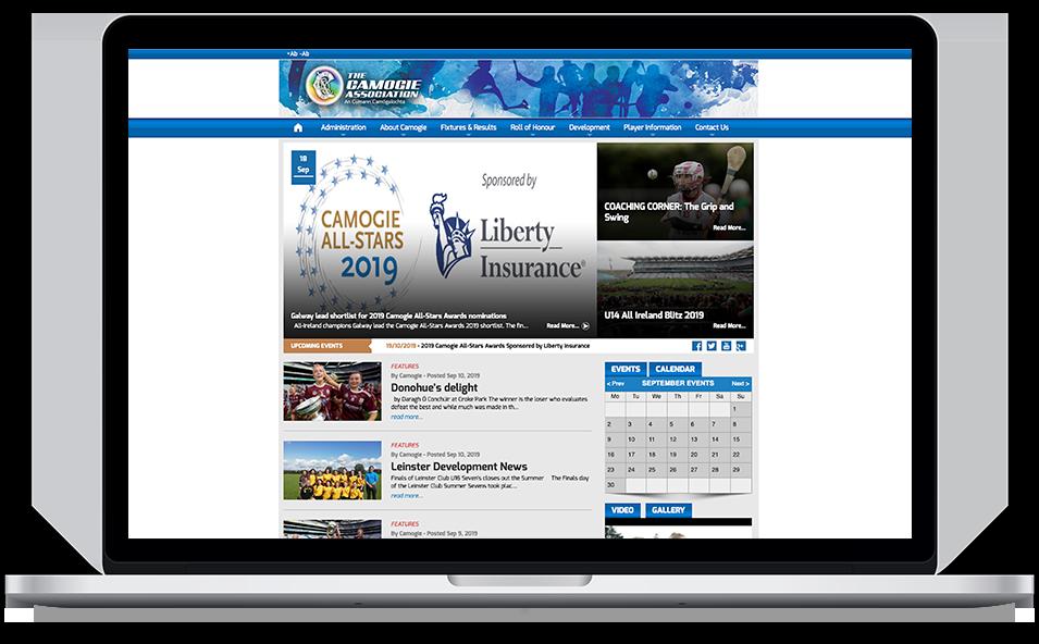 Camogie Association old Website