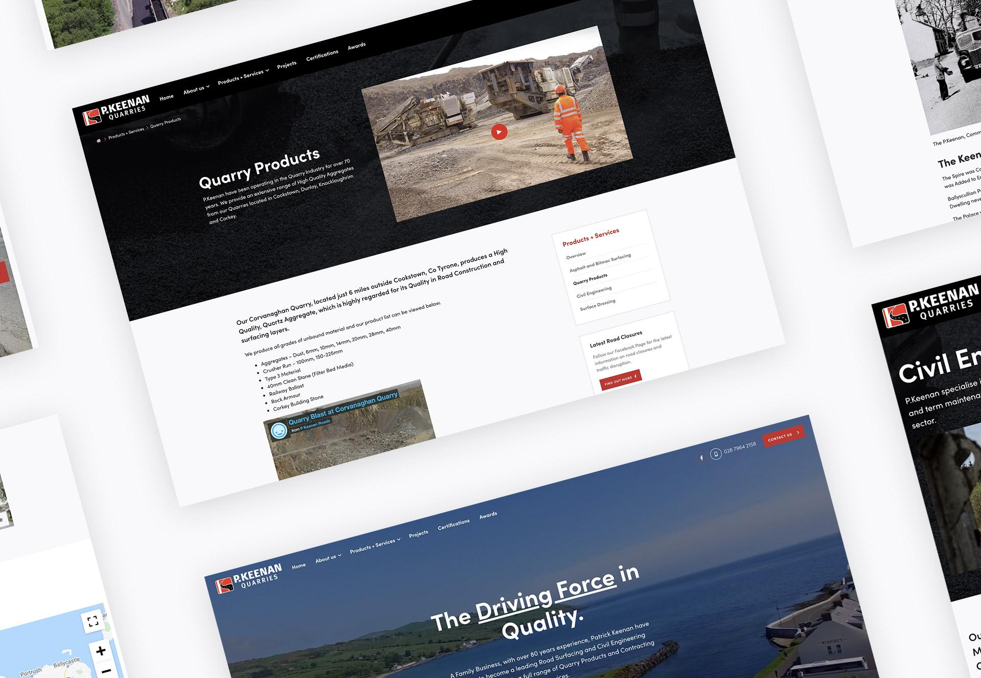 P. Keenan Website Redesign and WordPress Theme