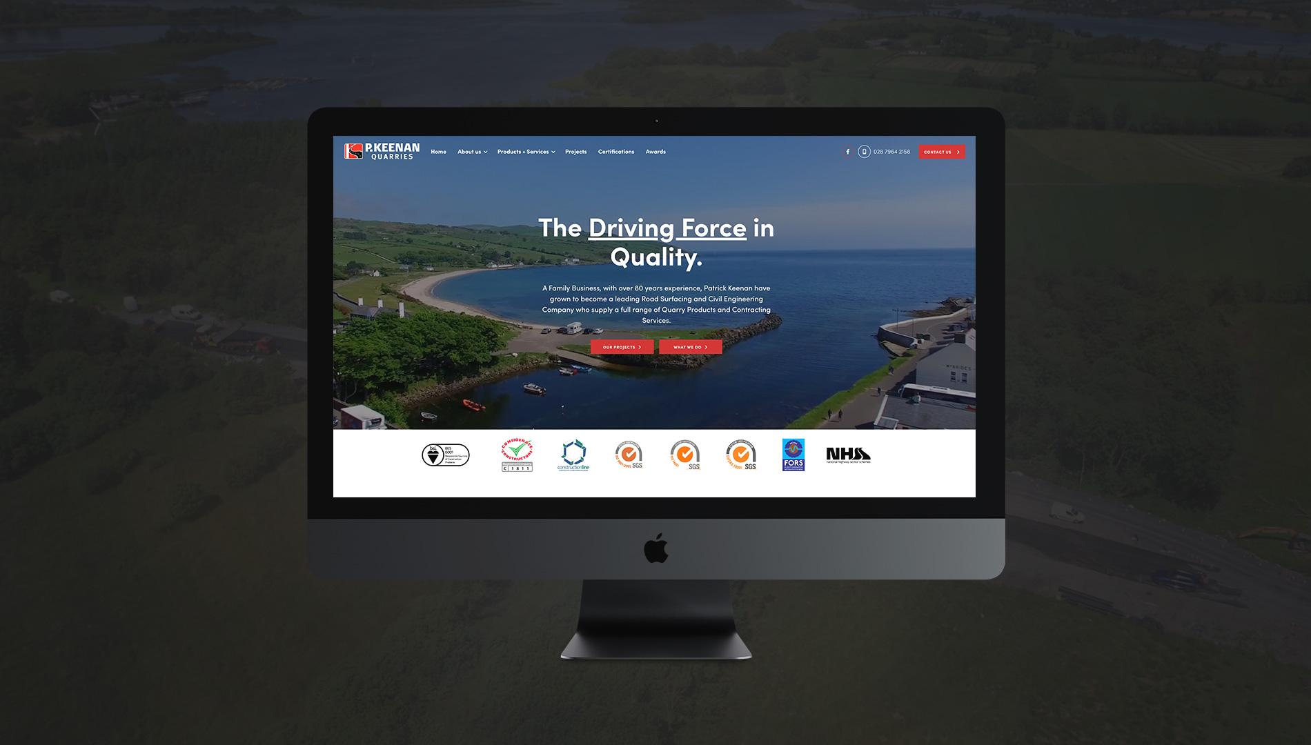 P. Keenan Quarries WordPress Website by LD2 Digital