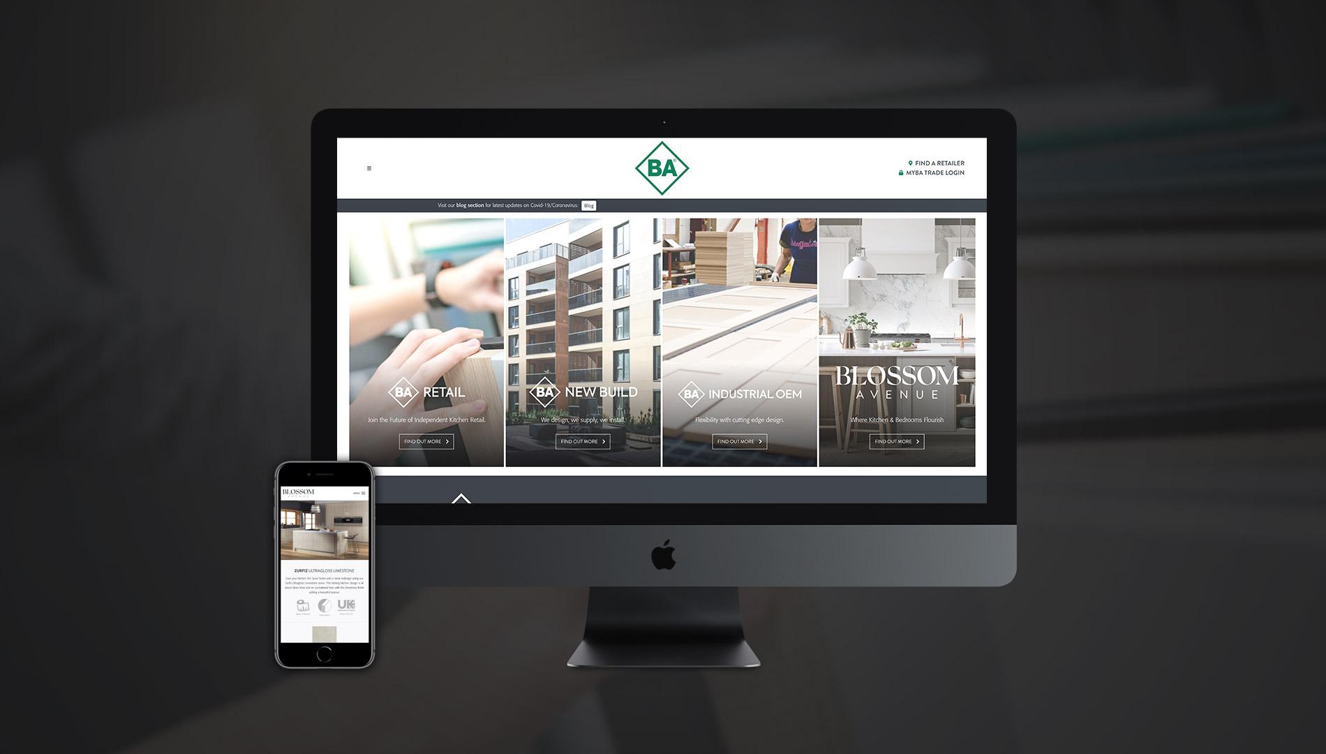 BA Kitchen and Bedroom Designer WordPress Website