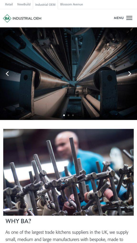 BA Industrial Mobile Website