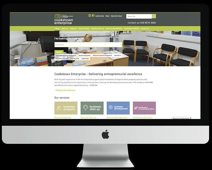 Cookstown Enterprise WordPress Website