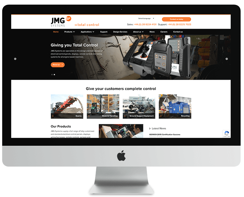 JMG Systems WordPress Website
