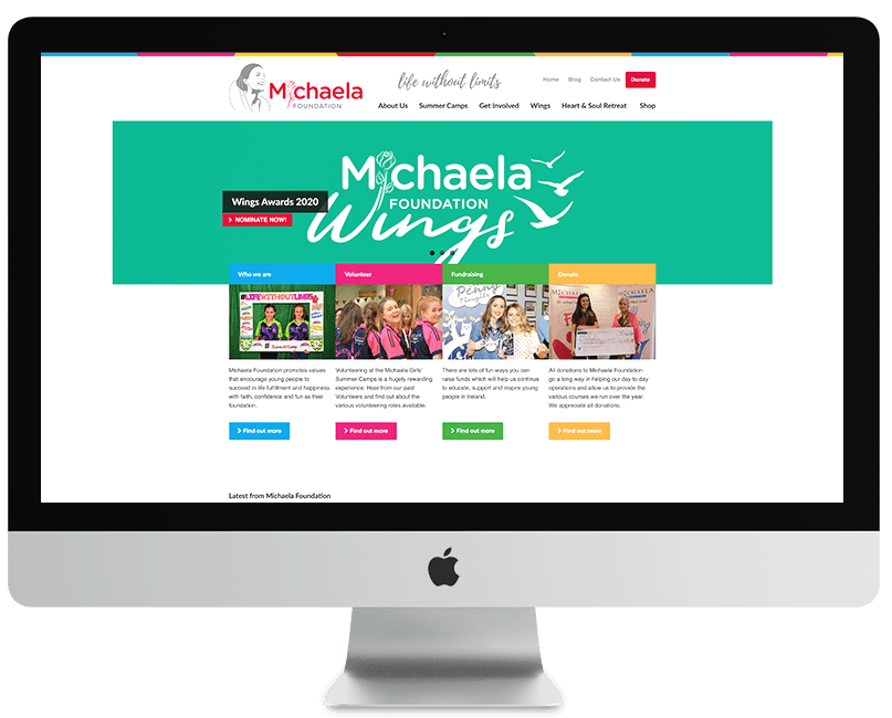 Michaela Foundation WordPress Website