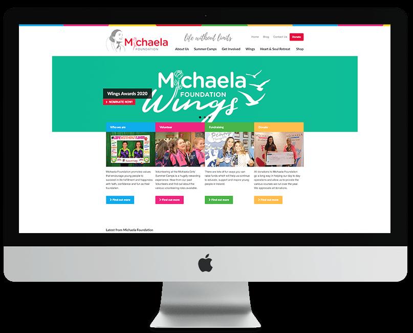 Michaela Foundation WordPress Website