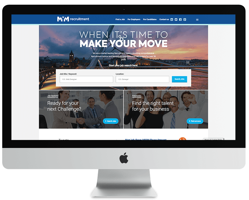 MYM Recruitment WordPress Website