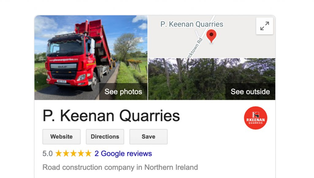 P. Keenan Google Listing