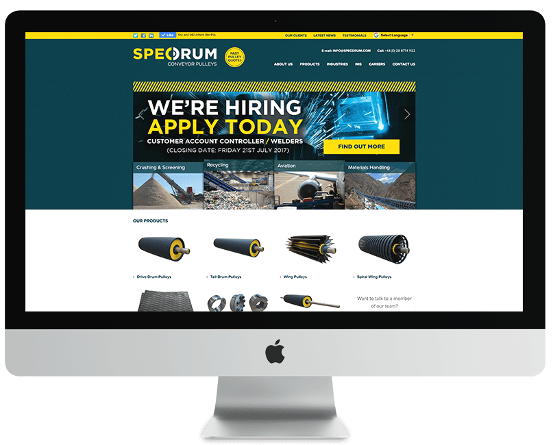 SpecDrum Engineering WordPress Website