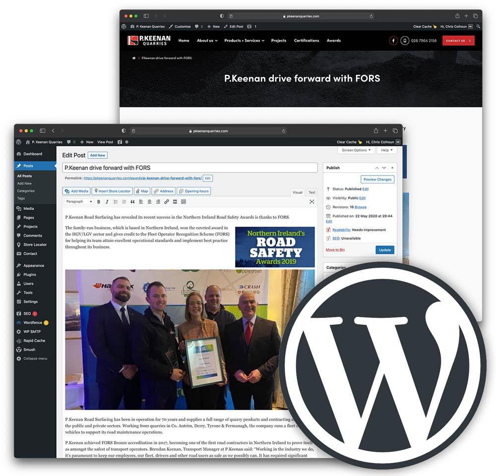 Web Design Omagh - WordPress CMS